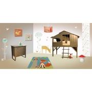 de l'accessoire au meuble enfant Ma Chambramoi cultive les thèmes : ci-dessus « forêt »….