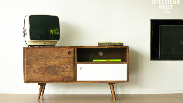 meuble télé esprit scandinave années 60s