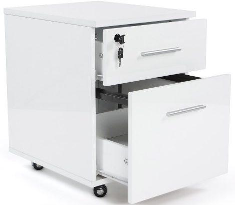 Coté mobilier bureau design, penser aux tiroirs sur roulettes
